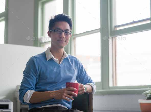 Portrait of young businessman - Stock Photo - Images