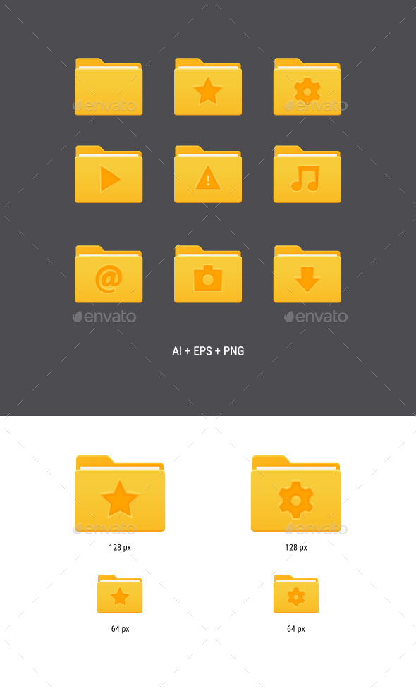 Yellow Folder Icons - Software Icons