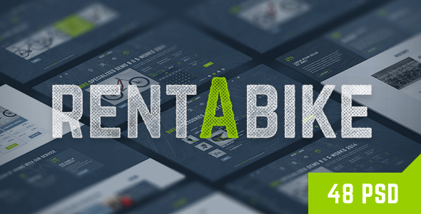 Rent a Bike – Rental & Booking PSD Template