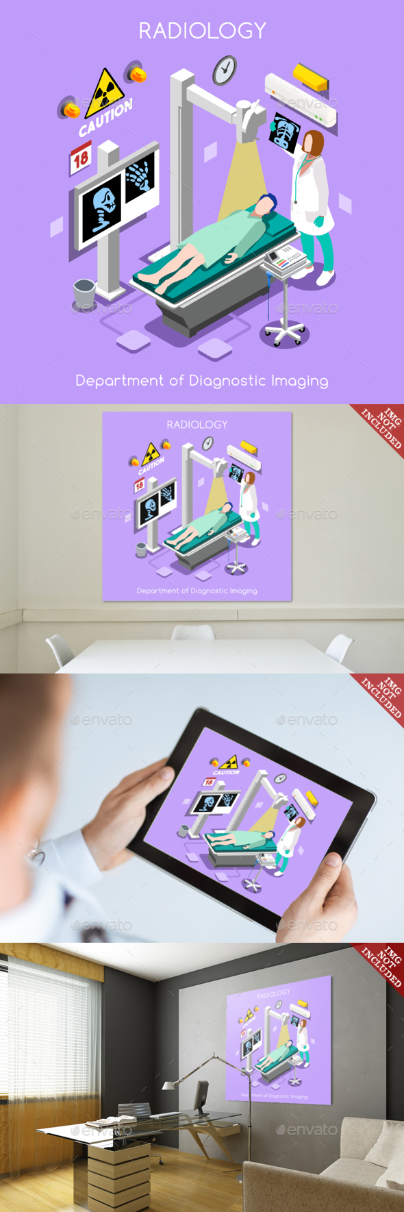 Hospital People Isometric - Health/Medicine Conceptual