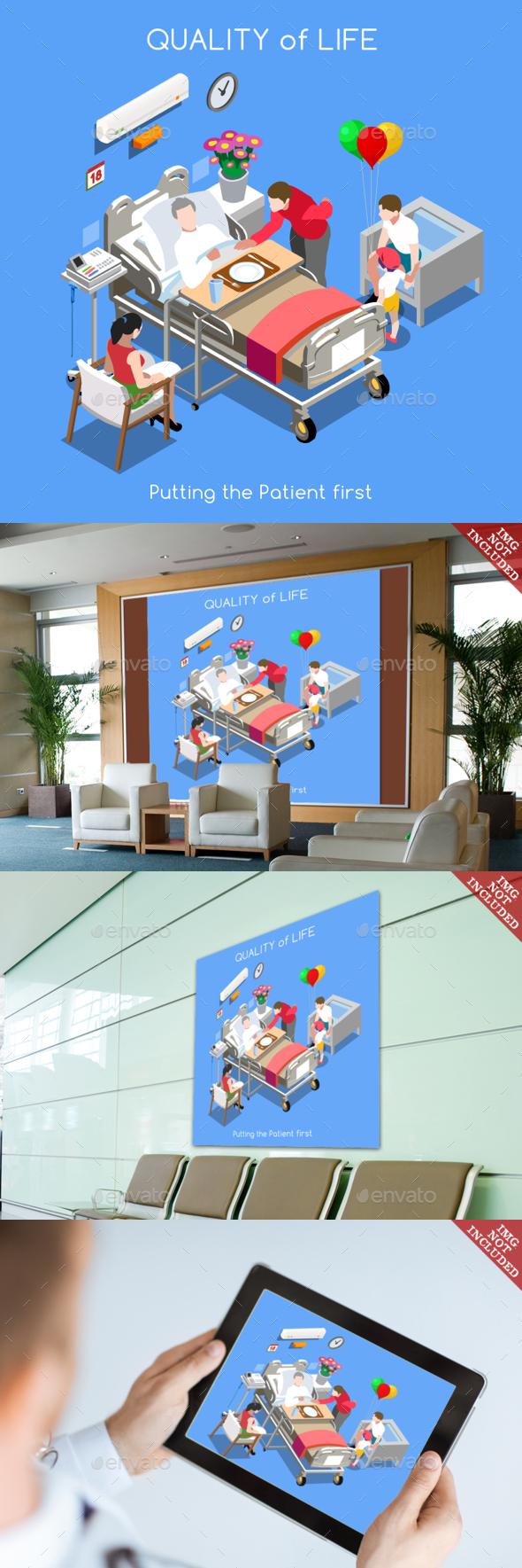 Hospital 01 People Isometric - Health/Medicine Conceptual