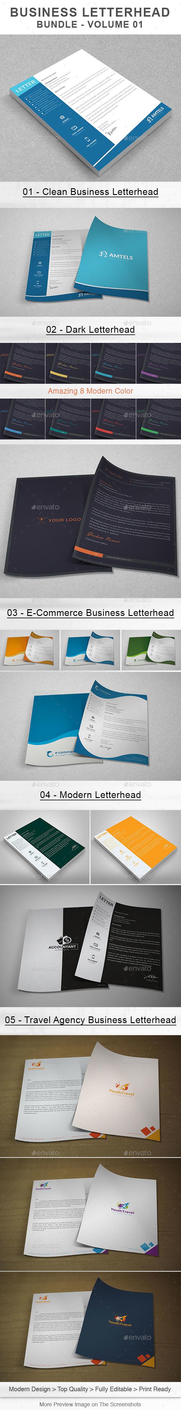 Business Letterhead Bundle | Volume 01 - Stationery Print Templates