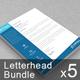 Business Letterhead Bundle   Volume 01 - GraphicRiver Item for Sale