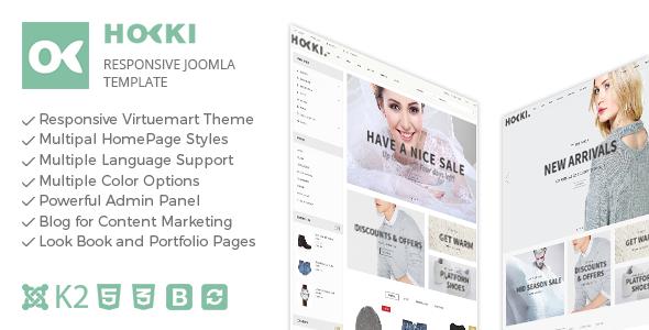 Hoki – Responsive Joomla Virtuemart Template