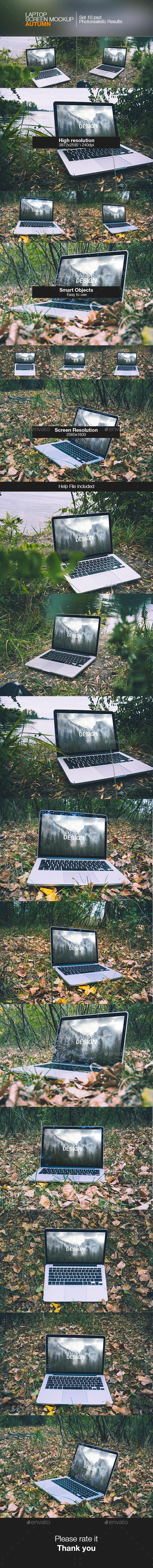 Laptop Screen Mockup | Autumn - Laptop Displays