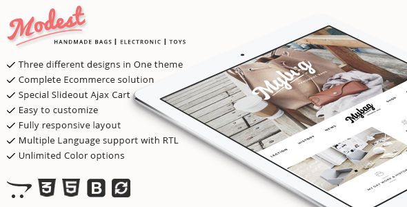 Modest – Multipurpose and Responsive Opencart Them