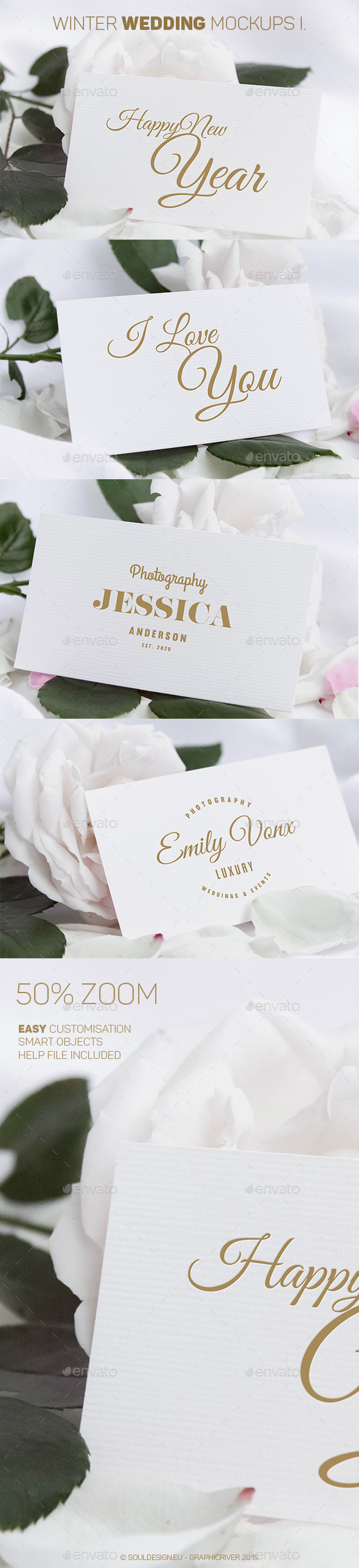Winter Wedding Mockups I. - Miscellaneous Print
