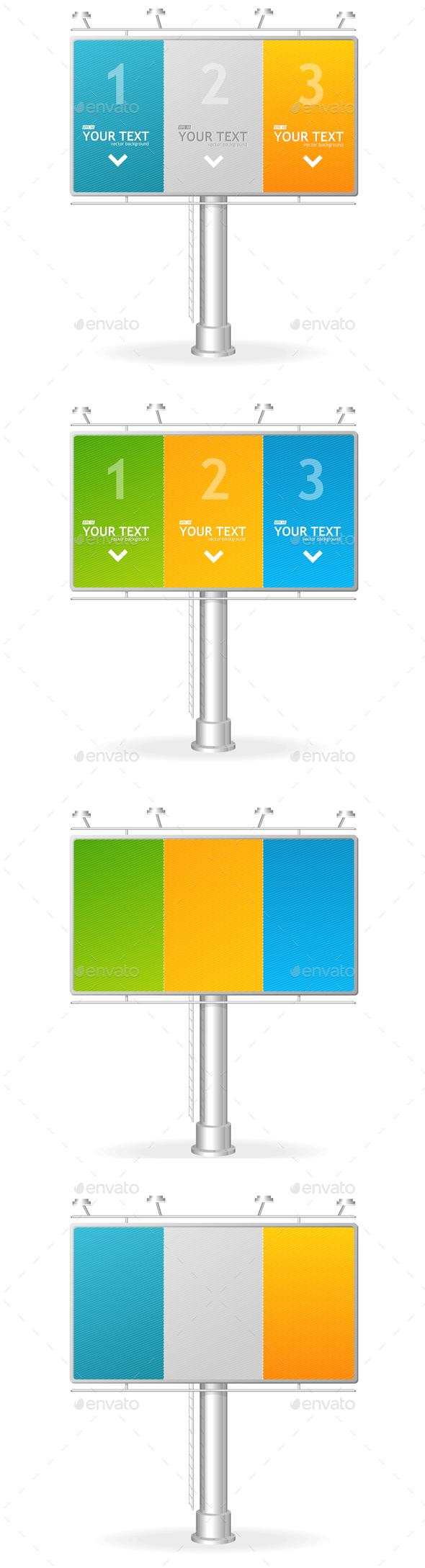 Billboard Screen Template. Vector - Conceptual Vectors