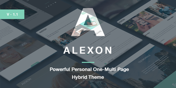 Alexon – Personal One-Multi Page Hybrid WP Theme