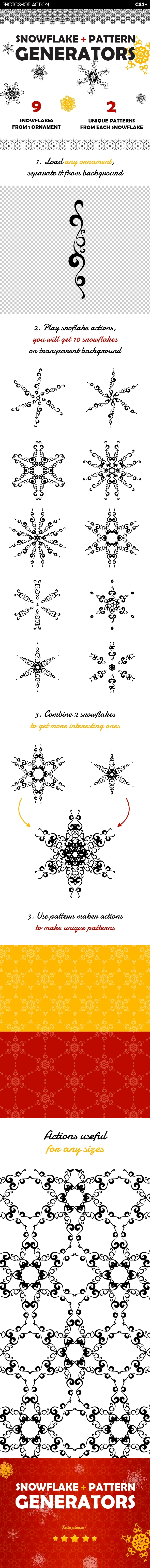 Snowflake & Christmas Pattern Generators - Utilities Actions