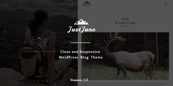 JustJane – Responsive WordPress Blog Theme