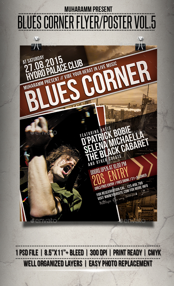 Blues Corner Flyer / Poster Vol.3 - Events Flyers