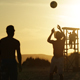 Young People Playing Beach Ball at Sunset 2 - VideoHive Item for Sale