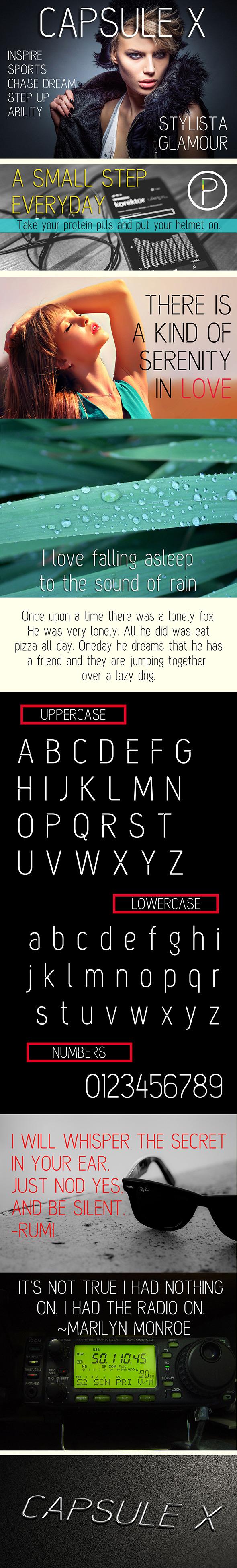 Capsule X Font - Sans-Serif Fonts