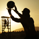 Young People Playing Beach Ball at Sunset 3 - VideoHive Item for Sale