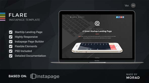 Flare - Instapage Startup Landing Page - Instapage Marketing