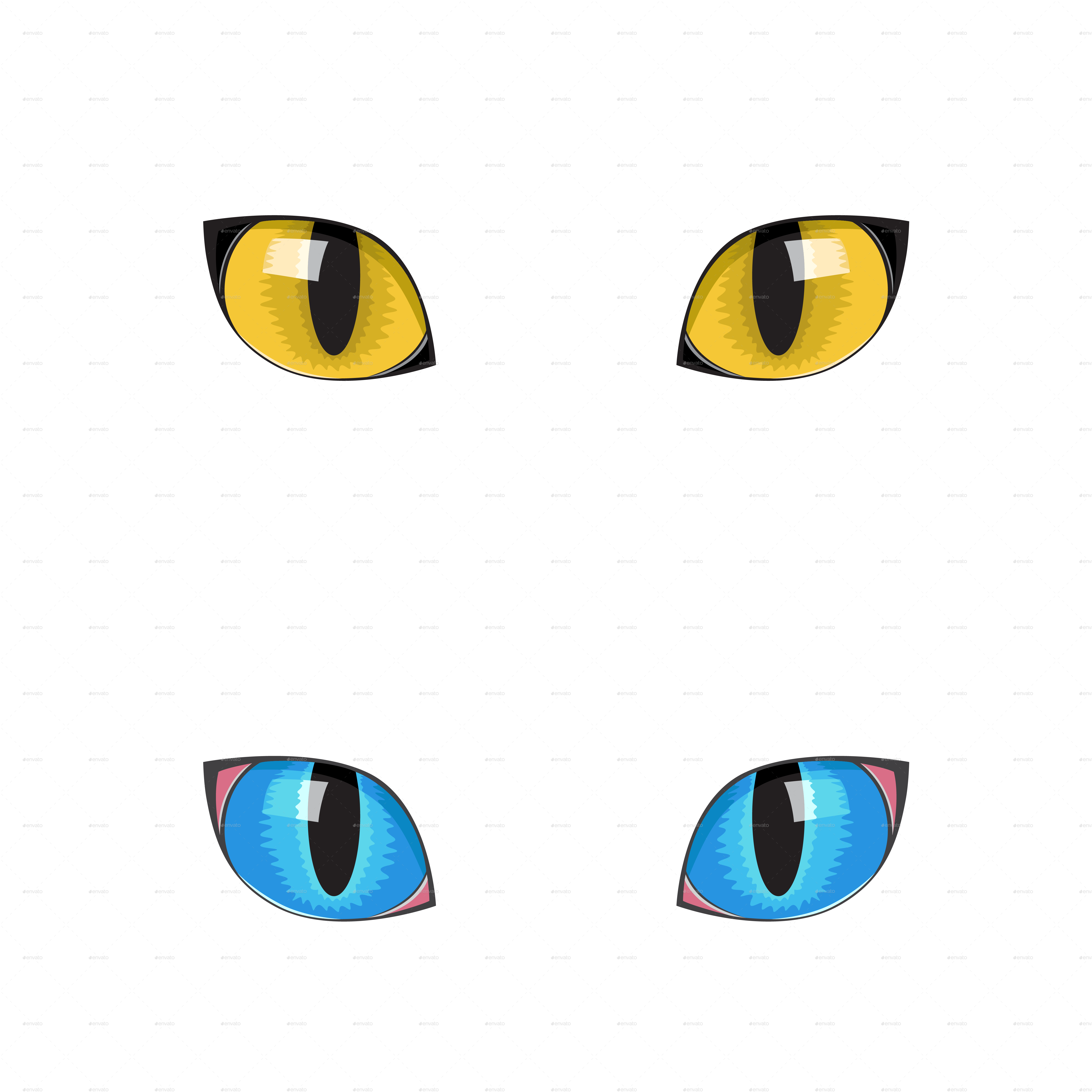 Cat Eyes by romvo   GraphicRiver (4961 x 4961 Pixel)