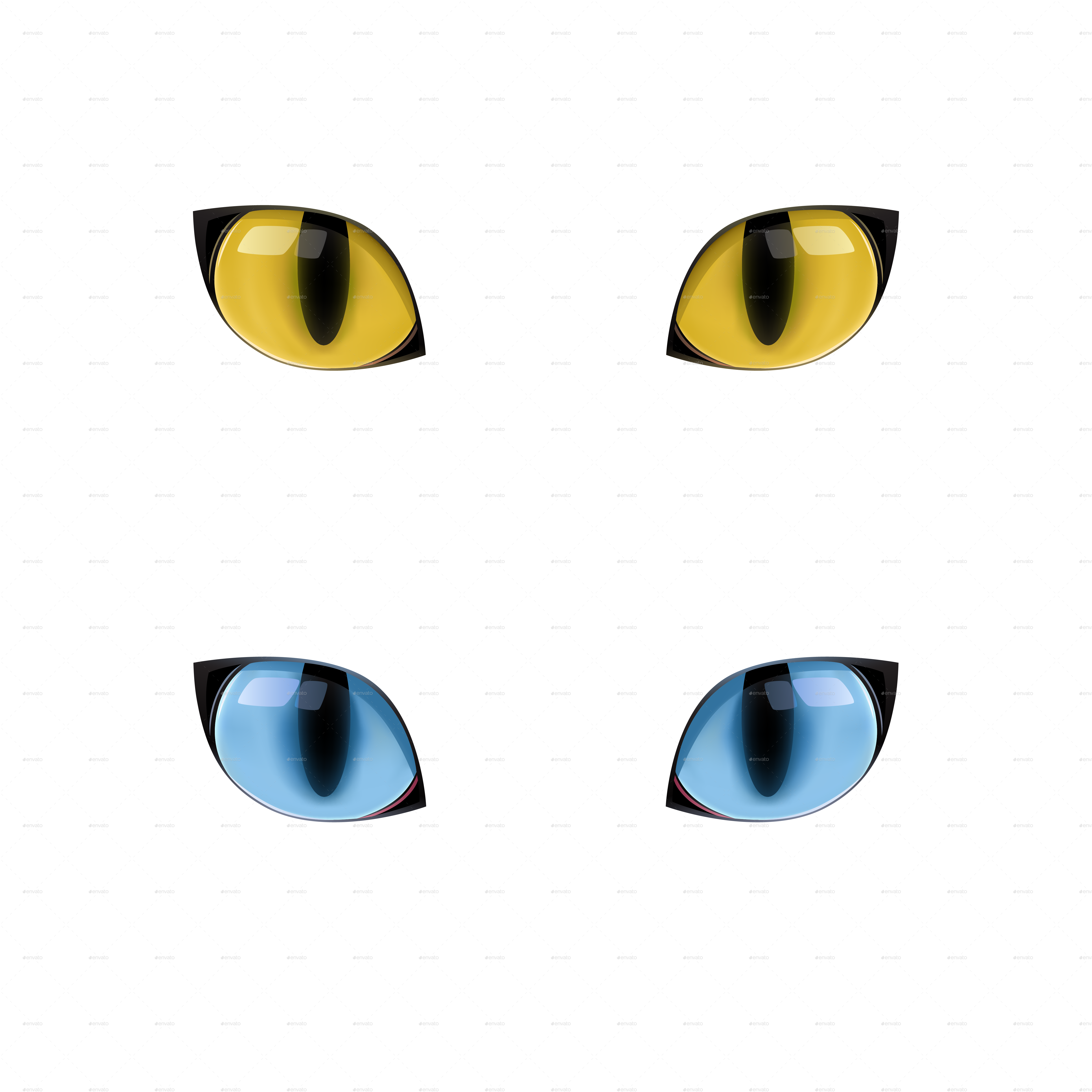 Blue Cats Eyes Png