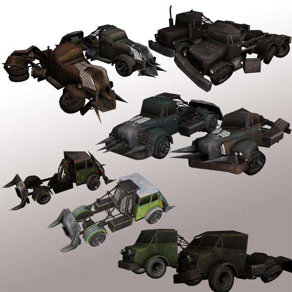 Trucks with Armor package  - 3DOcean Item for Sale