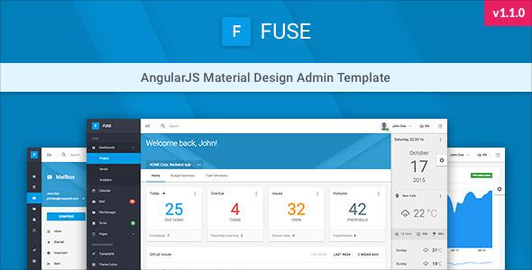 Fuse – AngularJS Material Design Admin Template