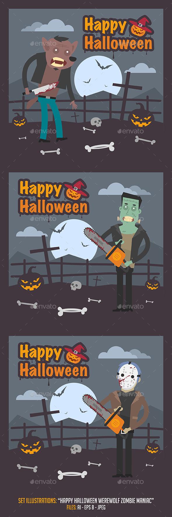 Happy Halloween Illustrations - Halloween Seasons/Holidays