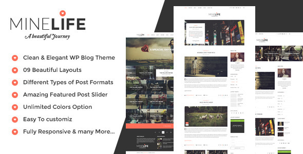 MineLife - Elegant WordPress Personal Blog Theme