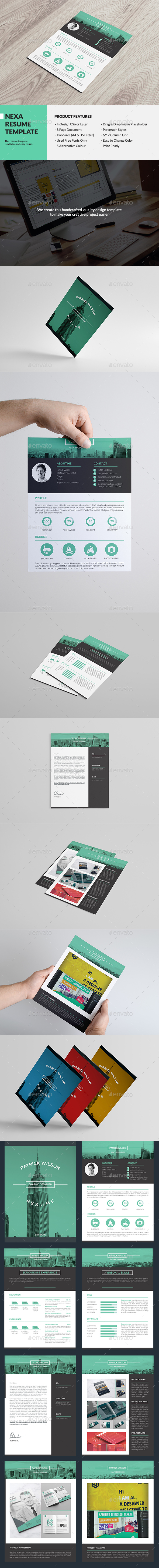 Nexa Resume Template - Resumes Stationery