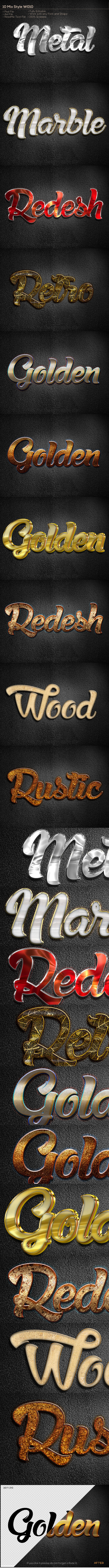 10 Mix Style W010 - Text Effects Styles