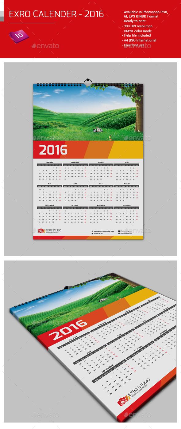 Exro Calender 2016 - Calendars Stationery