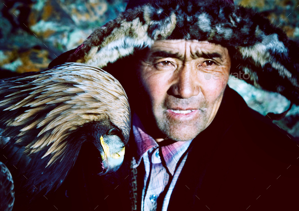 Mongolian Man with Traditional Lifestyles Culture Concept - Stock Photo - Images
