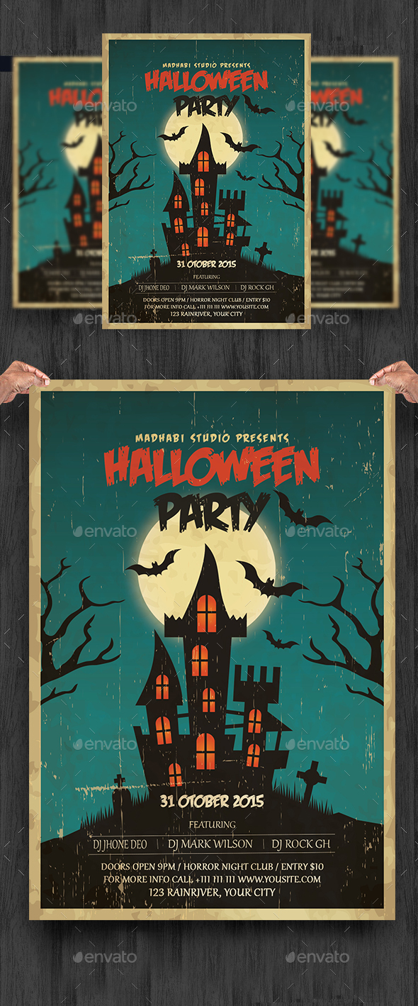 Vintage Halloween Party Flyer - Clubs & Parties Events