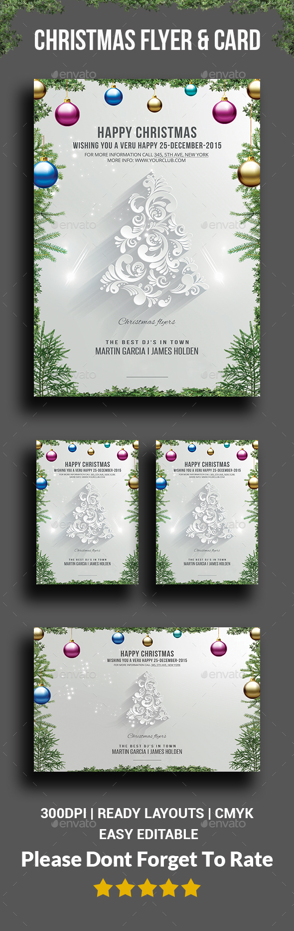 Christmas flyers & card - Events Flyers
