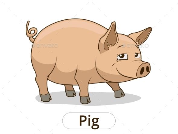 Pig Animal Cartoon - Animals Characters