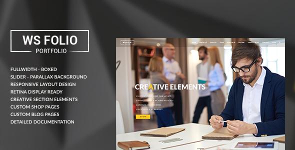 WS Folio – Responsive Portfolio HTML5 Template