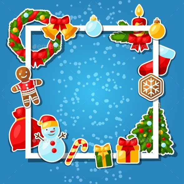 Merry Christmas And Happy New Year Sticker - Christmas Seasons/Holidays