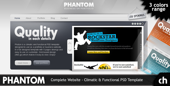 Free Download PHANTOM - Climatic & Functional PSD Template Nulled Latest Version