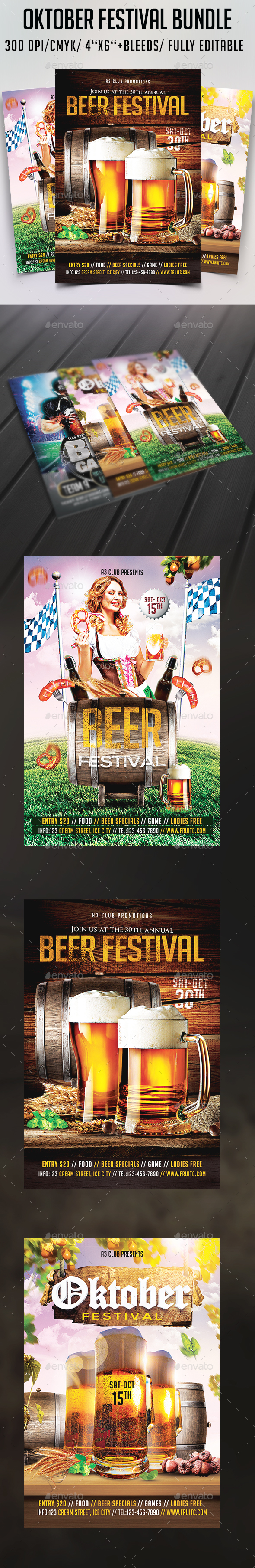Oktober Festival Flyer Bundle - Clubs & Parties Events