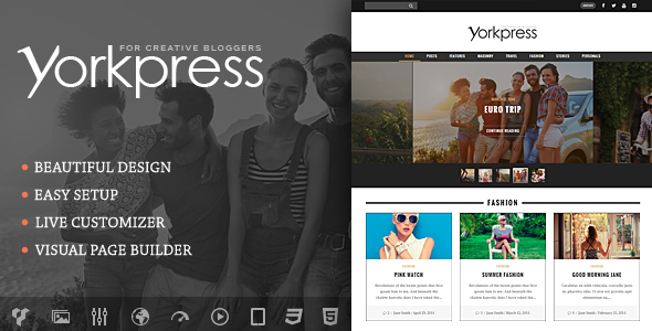 Yorkpress - Creative WordPress Blog Theme - Personal Blog / Magazine