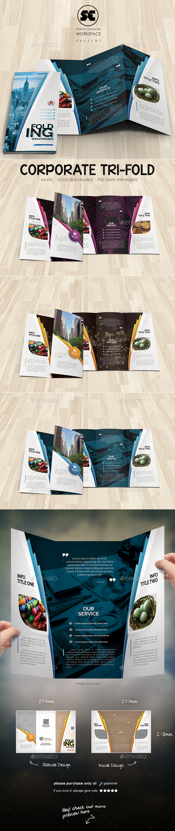 Creative Corporate Tri-Fold - Corporate Brochures