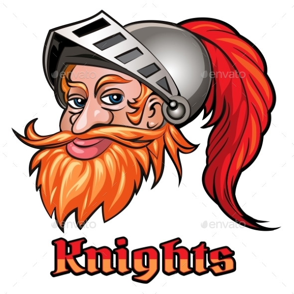 Knight In a Helmet Emblem - People Characters