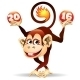 Cheerful Fire Monkey - GraphicRiver Item for Sale