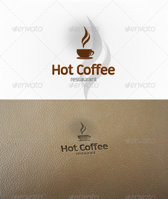 Hot Coffee Logo Template  - Abstract Logo Templates