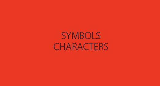 Characters & Symbols