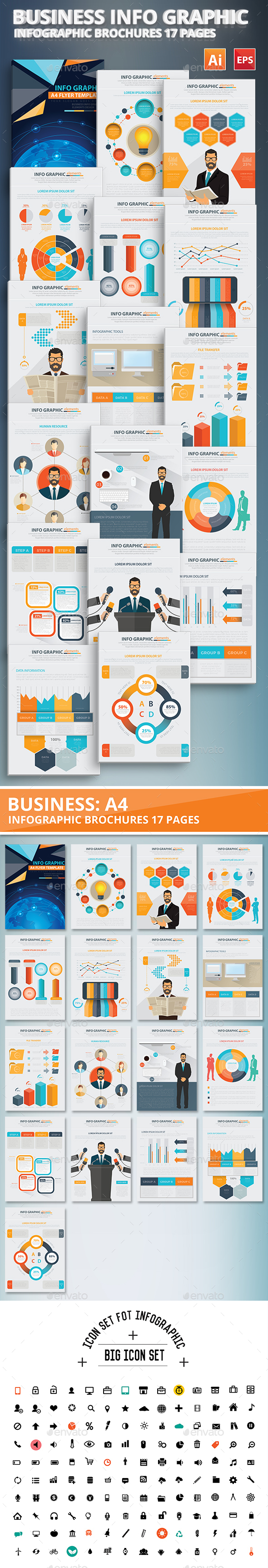 Business Info Graphic Elements Design - Infographics