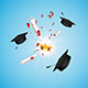 Background with Professor hat and Graduation cert - GraphicRiver Item for Sale
