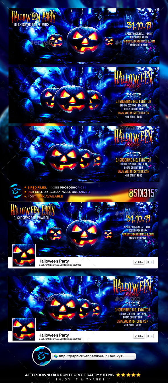 Halloween Party FB Timeline Cover - Facebook Timeline Covers Social Media