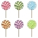 Vector Set Of Cartoon Color Swirl Lolipops - GraphicRiver Item for Sale