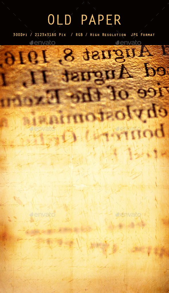 Old Paper 0206 - Paper Textures