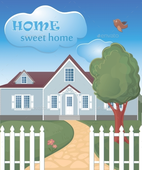 Home Sweet Home Poster - Backgrounds Decorative