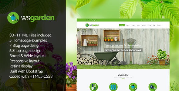 Garden Templates from ThemeForest on house and pool design, flower and garden design, house and interior design,